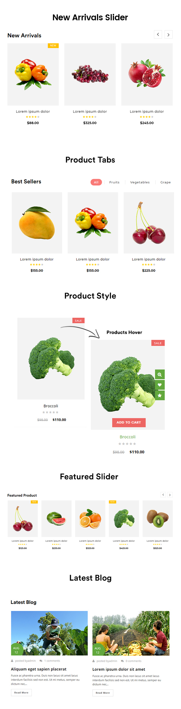 food shop template