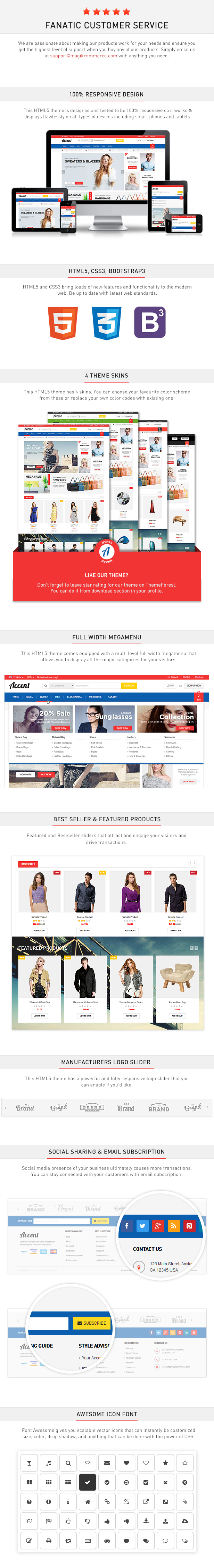 accent responsive html template