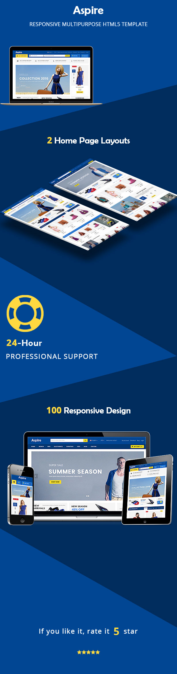 aspire responsive html template