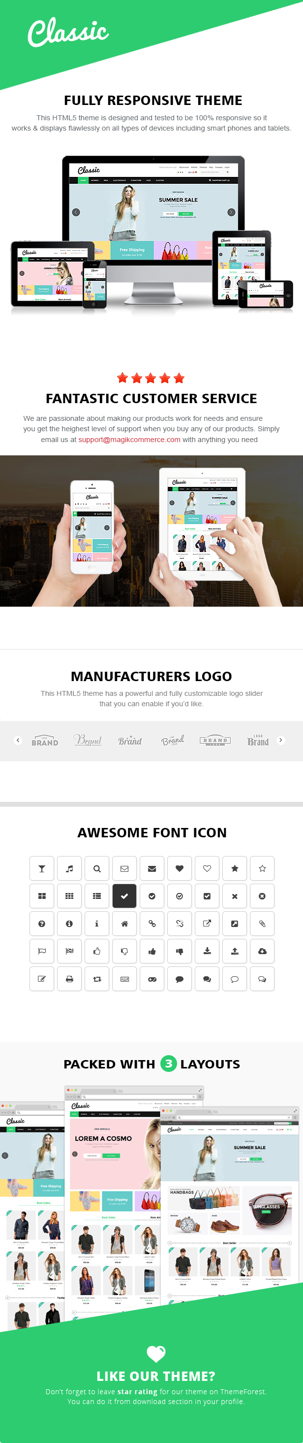 classic responsive html template