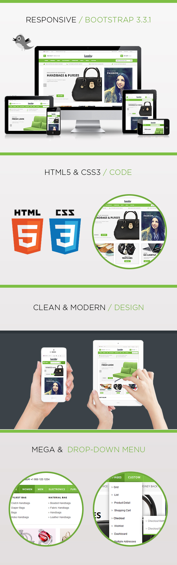 lamby responsive html template