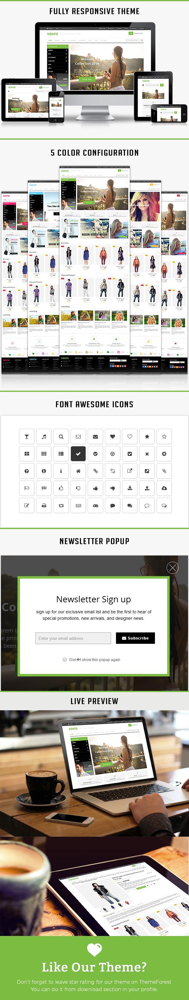 vento responsive html template
